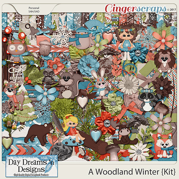 A Woodland Winter {Kit} by Day Dreams 'n Designs