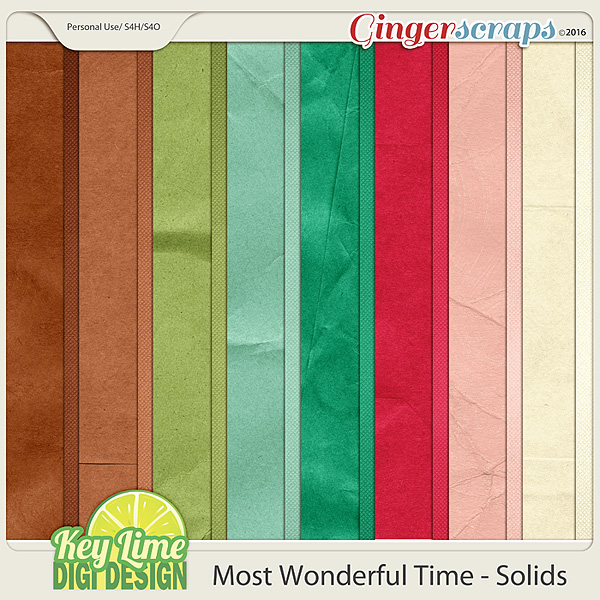 Most Wonderful Time - Solid Papers