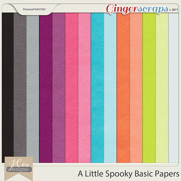A Little Spooky Basic Papers by JoCee Designs