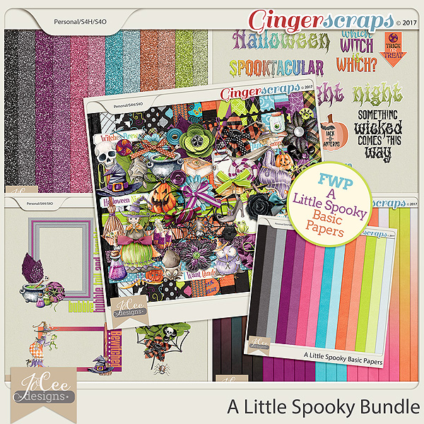 A Little Spooky Bundle with FWP Basic Papers by JoCee Designs