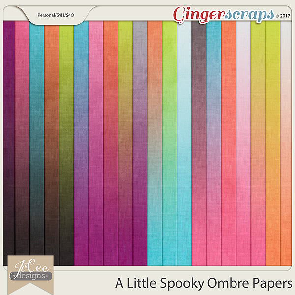 A Little Spooky Ombre Papers by JoCee Designs