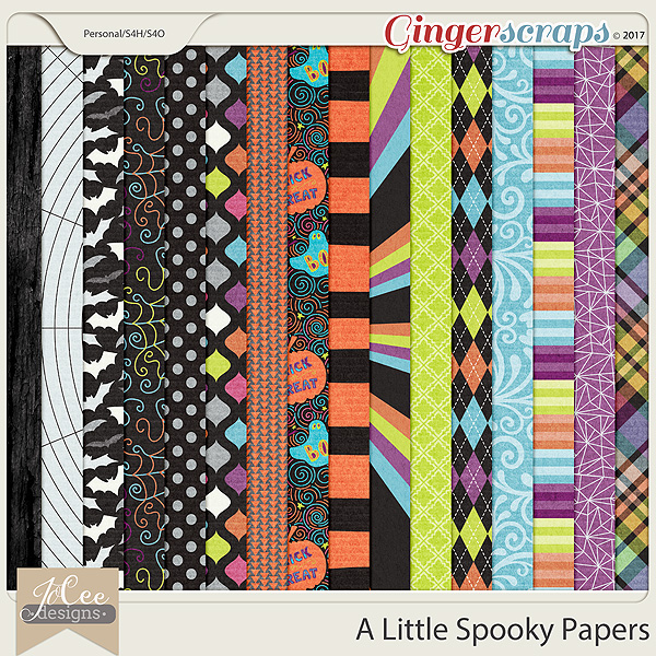 A Little Spooky Papers by JoCee Designs
