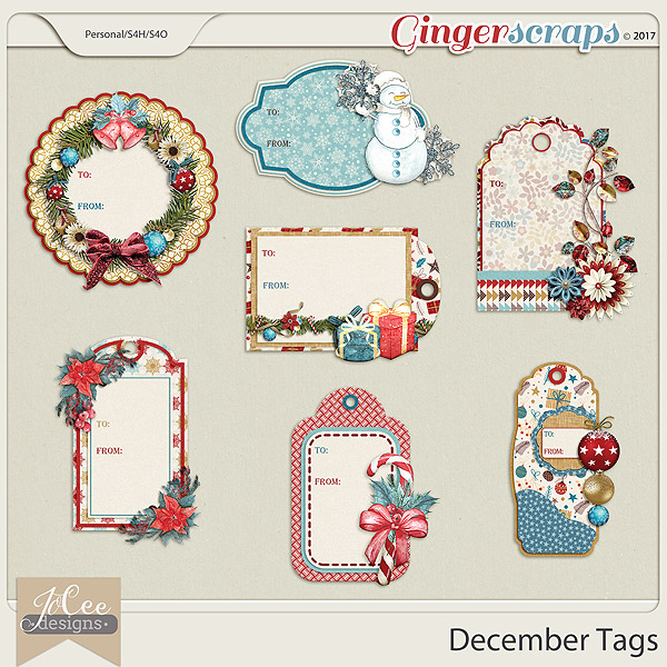 December Tags by JoCee Designs
