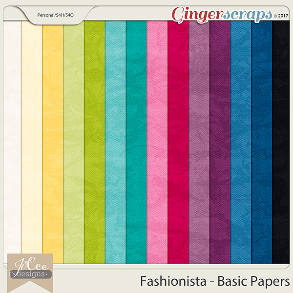 Fashionista Basic Papers by JoCee Designs