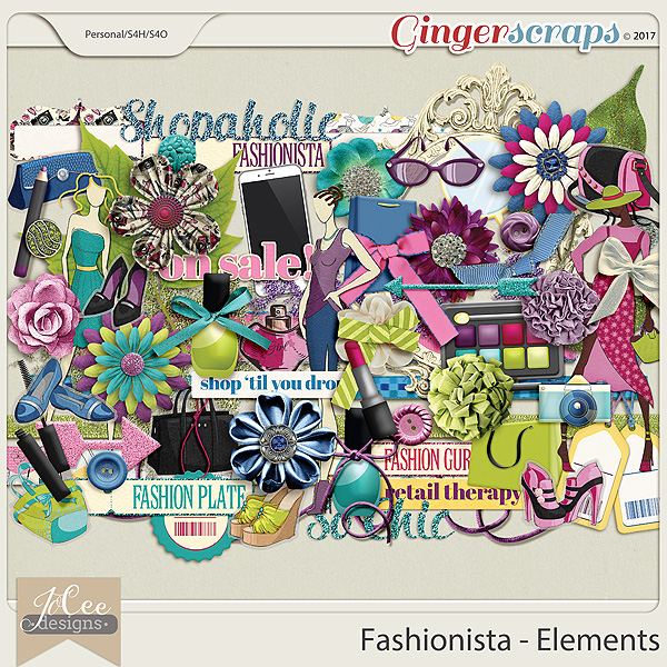Fashionista Element Pack by JoCee Designs