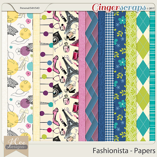 Fashionista Paper Pack by JoCee Designs