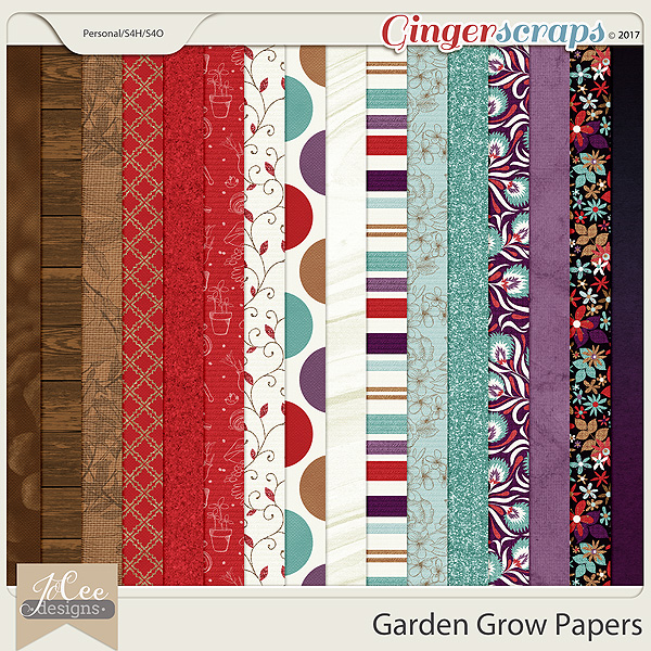 Garden Grow Papers by JoCee Designs