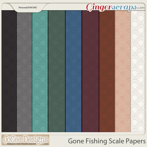 Gone Fishing Scale Papers by JoCee Designs