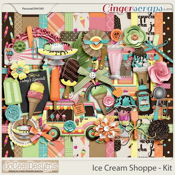 Ice Cream Shoppe Digital Kit