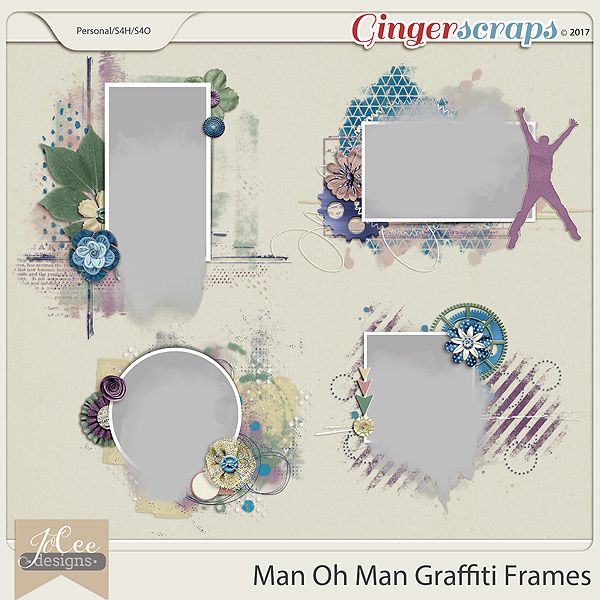 Man Oh Man Graffiti Frames by JoCee Designs
