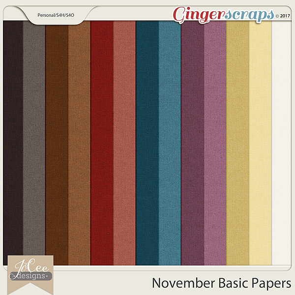 November Basic Papers by JoCee Designs