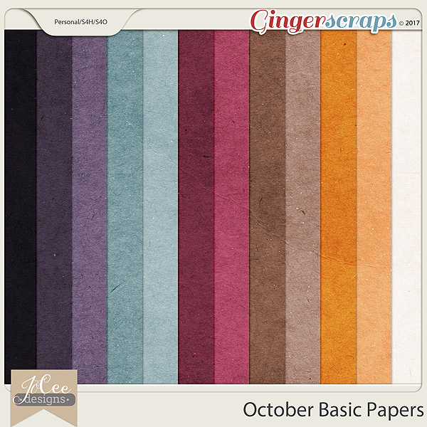October Basic Papers by JoCee Designs
