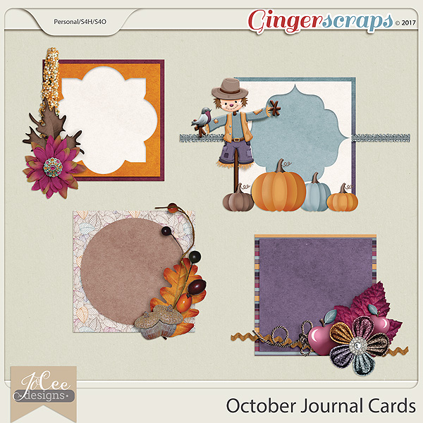 October Journal Cards by JoCee Designs