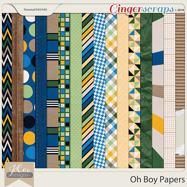 Oh Boy Papers by JoCee Designs