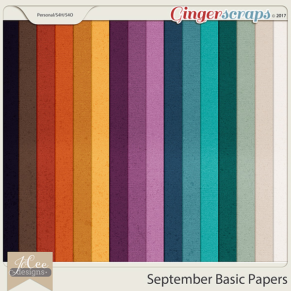 September Basic Papers by JoCee Designs