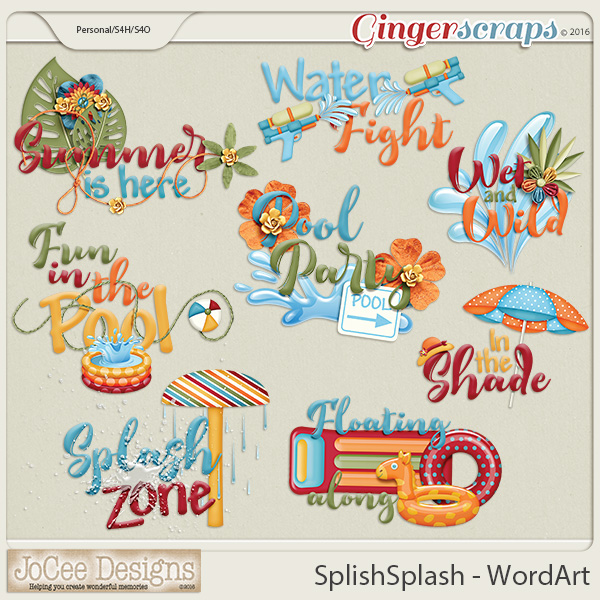 Splish Splash Word Art