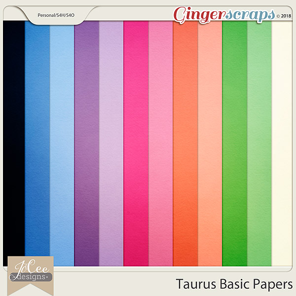 Taurus Basic Papers by JoCee Designs