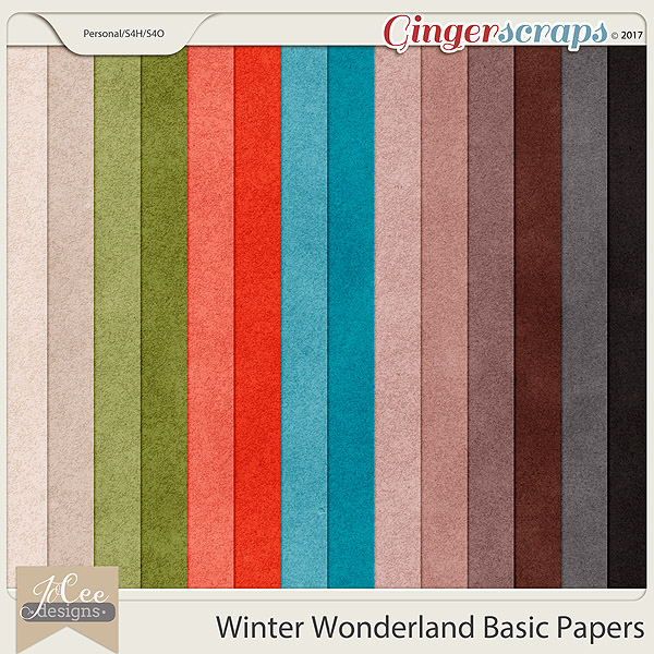 Winter Wonderland Basic Papers by JoCee Designs