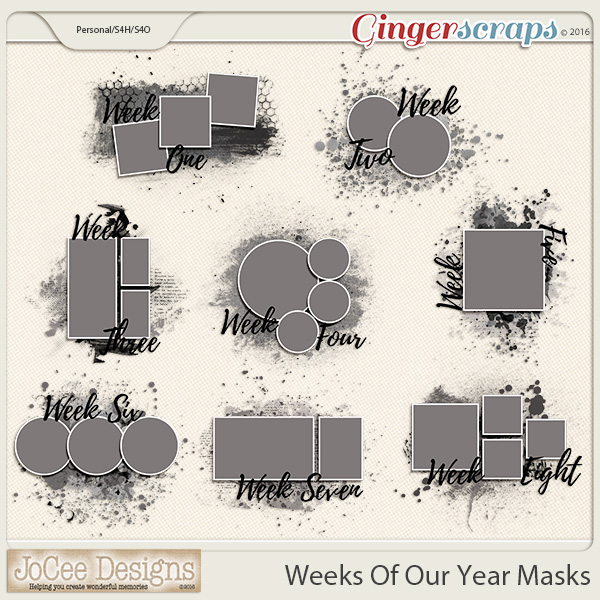 Weeks Of Our Year Masks - Pack 1