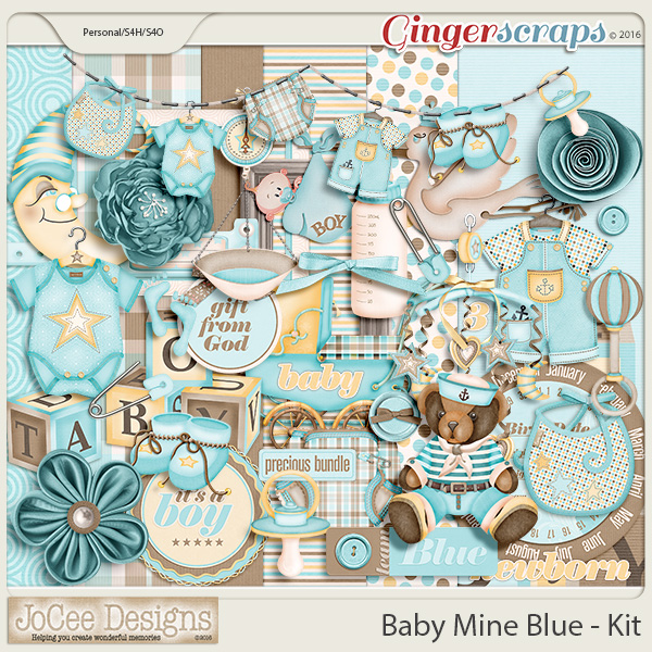 Baby Mine Blue Mini Kit