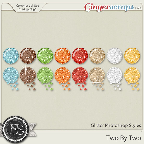 Two By Two Glitter Photoshop Styles