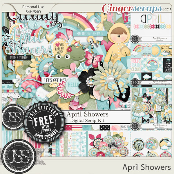 April Showers Digital Scrapbook Bundle