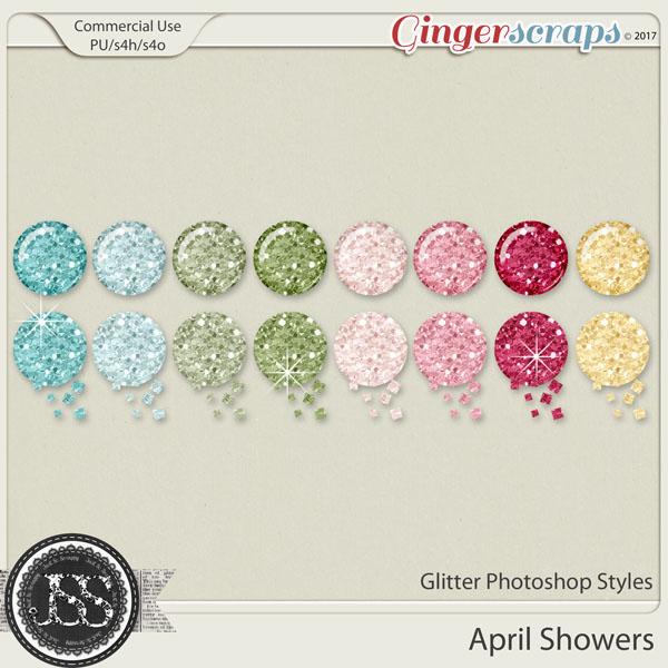 April Showers CU Glitter Photoshop Styles