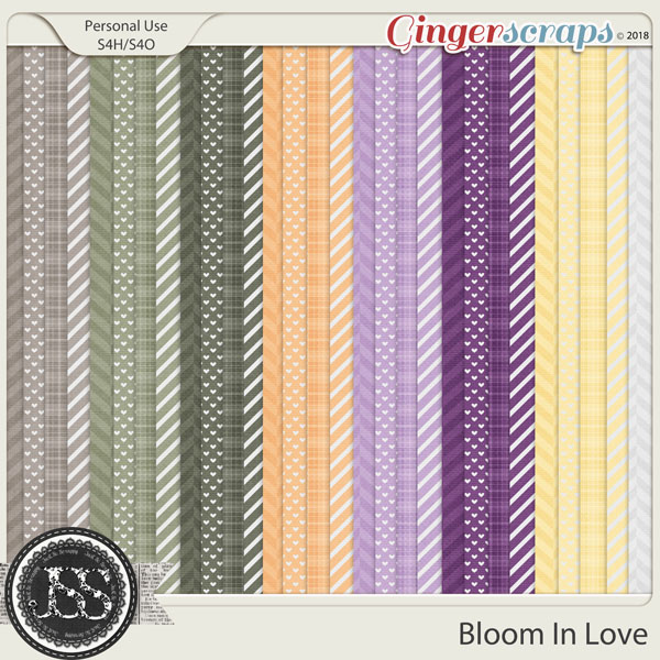 Bloom In Love Pattern Papers