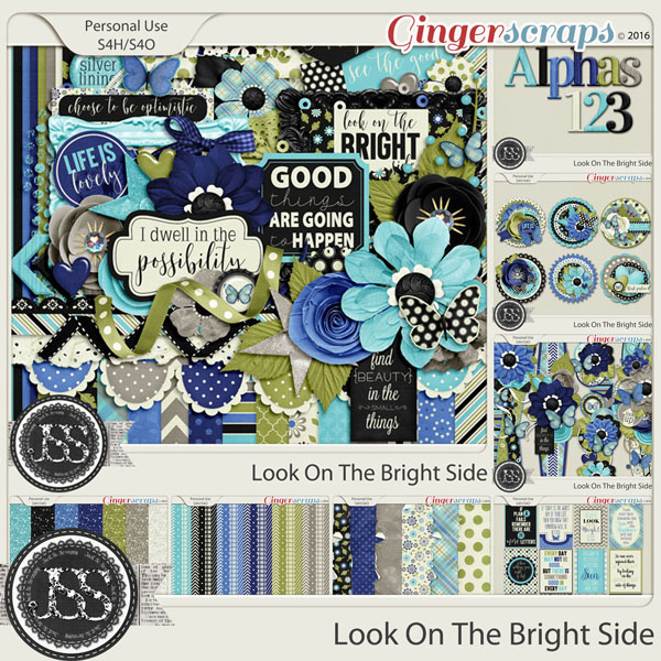 Look On The Bright Side Digital Scrapbooking Collection