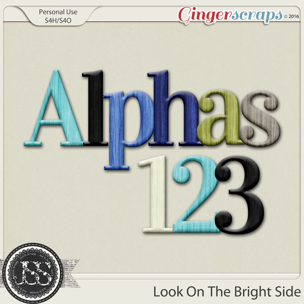Look On The Bright Side Alphabets