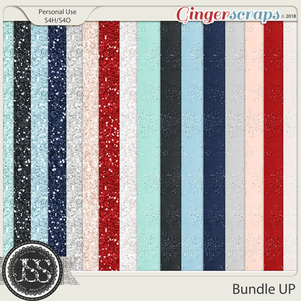 Bundle Up 12x12 Glitter Papers