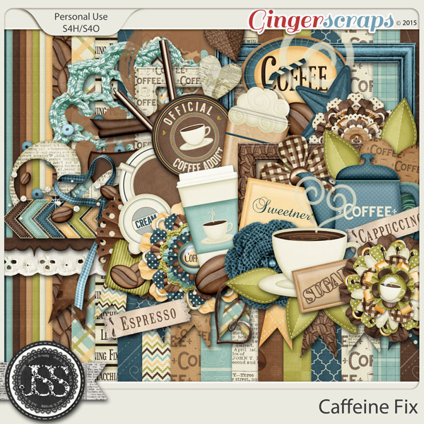 Caffeine Fix Digital Scrapbook Kit
