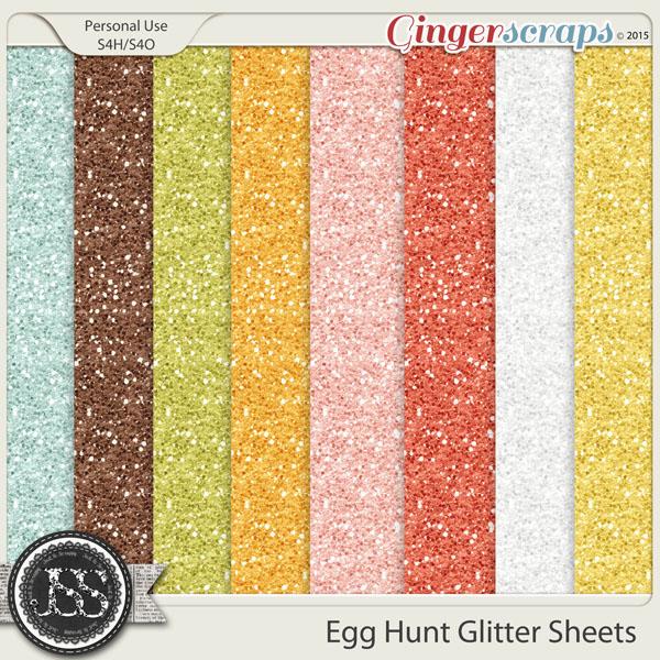 Egg Hunt Glitter Sheets