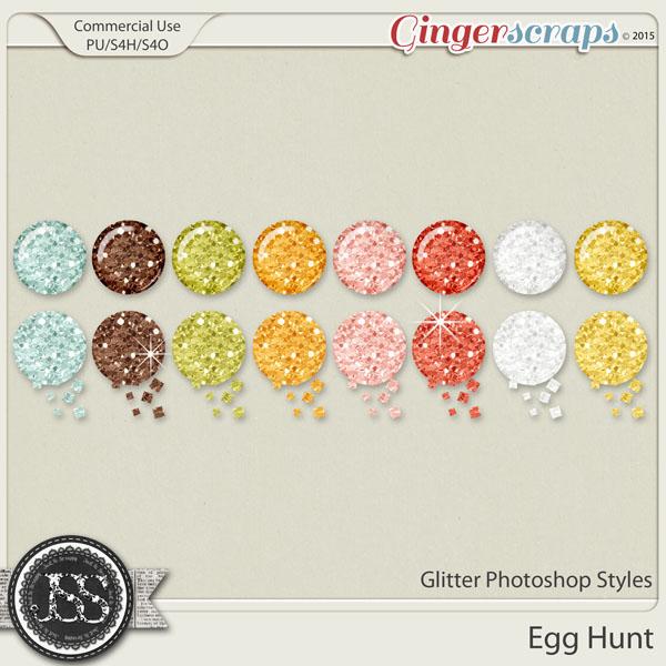 Egg Hunt Glitter Photoshop Styles