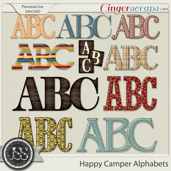 Happy Camper Alphabets
