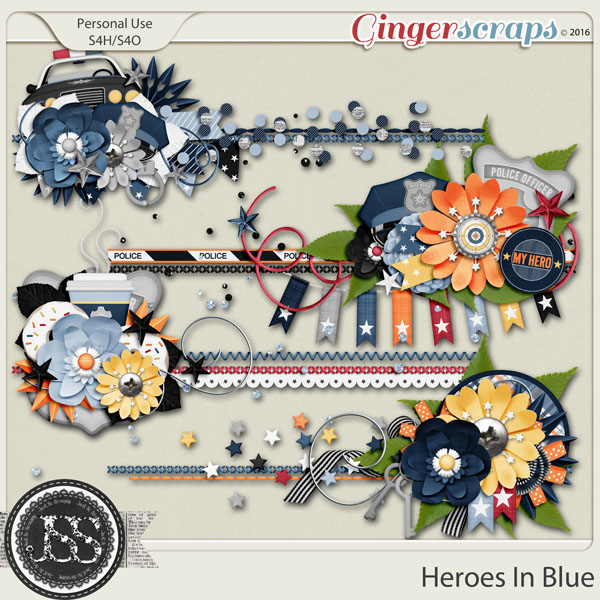 Heroes In Blue Cluster Stitches