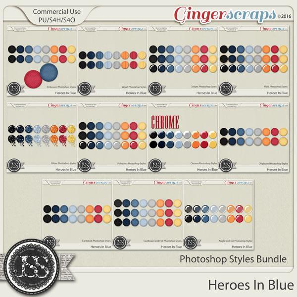 Heroes In Blue CU Photoshop Styles Bundle