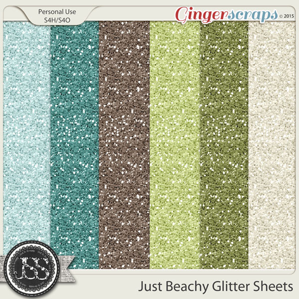 Just Beachy 12x12 Glitter Sheets