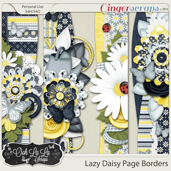 Lazy Daisy Page Borders