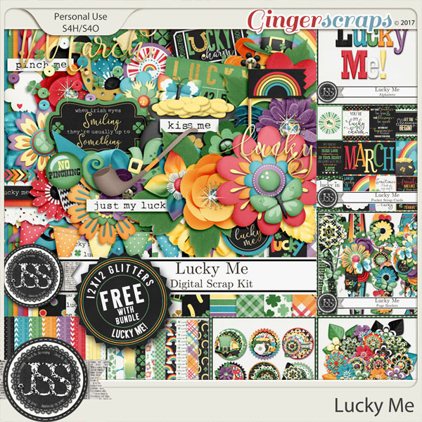 Lucky Me Digital Scrapbook Bundled Collection