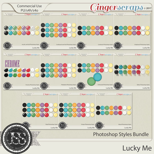 Lucky Me CU Photoshop Styles Bundle