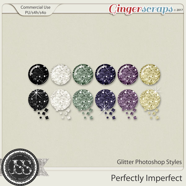 Perfectly Imperfect CU Glitter Photoshop Styles