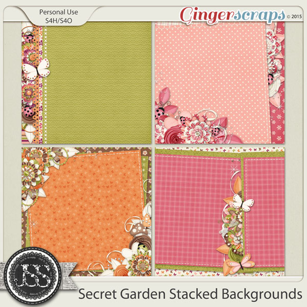 Secret Garden Stacked Backgrounds