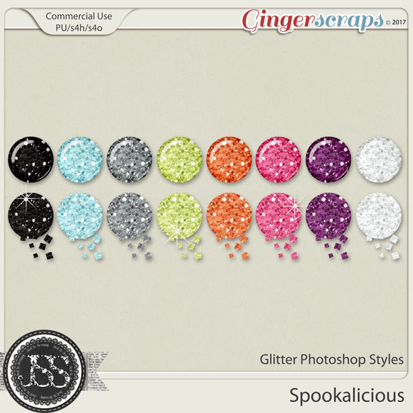 Spookalicious CU Glitter Photoshop Styles