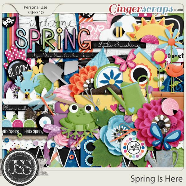 Spring Is Here Digital Scrapbook Kit