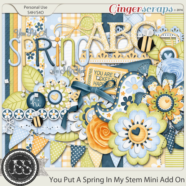 You Put A Spring In My Step Mini Add On Digital Scrapbooking Kit