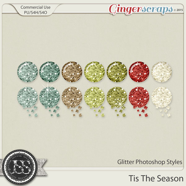 Tis The Season Glitter CU Photoshop Styles