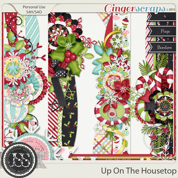 Up On The Housetop Page Borders