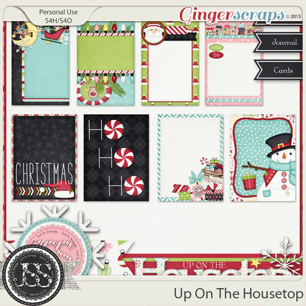 Up On The Housetop Journal and Pocket Scrapbooking Cards