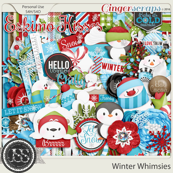 Winter Whimsies Digital Scrapbookig Kit
